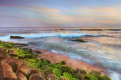 日落在海洋 免版税库存照片