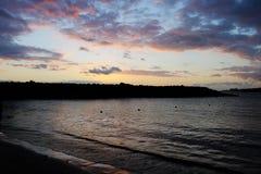 日落在特内里费岛加那利群岛  库存照片