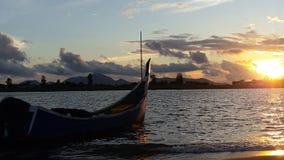 日落在班达亚齐 免版税图库摄影