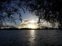 日落在班达亚齐 图库摄影