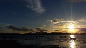 日落在班达亚齐 免版税库存照片
