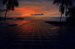 日落在百慕大 库存照片
