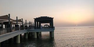 日落在红海 库存照片