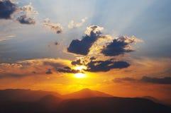 日落在纳夫普利翁 库存图片