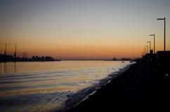 日落在维亚纳堡 库存图片