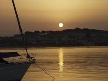 日落在罗希姆诺 图库摄影