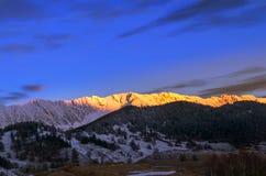 日落在罗马尼亚 免版税图库摄影
