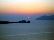 日落在芦粟海岛 库存图片