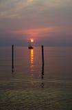 日落在荷兰,密执安 图库摄影