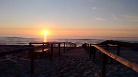 日落在葡萄牙 库存图片