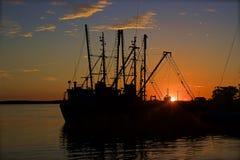日落在西恩富戈斯,古巴 库存照片
