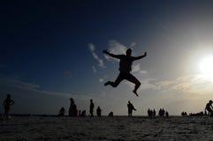 日落在那不勒斯佛罗里达 免版税库存照片