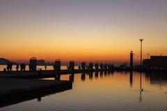日落在里斯本 免版税图库摄影