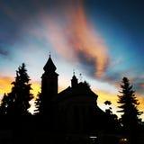 日落在镇里 图库摄影