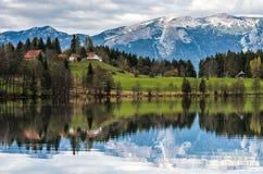 日落在阿尔卑斯 免版税库存照片