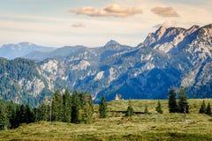 日落在阿尔卑斯 库存图片
