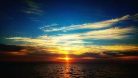日落在马尔代夫 库存照片