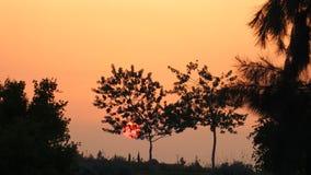 日落在马拉喀什 免版税库存图片