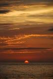 日落在巴亚尔塔港 库存图片