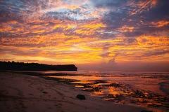 日落在巴厘岛 图库摄影