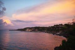 日落在巴厘岛 库存照片