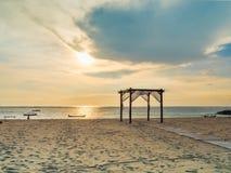 日落在巴厘岛 免版税库存图片
