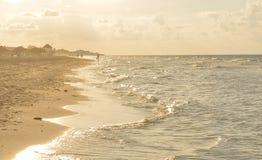 日落在巴拉德罗角,古巴 图库摄影