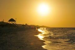 日落在巴拉德罗角,古巴 库存照片