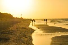 日落在巴拉德罗角,古巴 免版税库存照片
