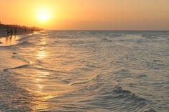 日落在巴拉德罗角,古巴 免版税库存图片