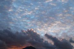 日落在11月-意大利 免版税库存图片