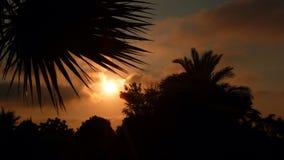日落在Alrinkum 3 库存照片