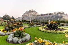 日落在Kew庭院里,伦敦 免版税库存图片
