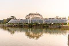 日落在Kew庭院里,伦敦 免版税库存照片