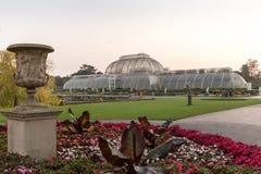 日落在Kew庭院里,伦敦 库存照片