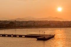 日落在Kos希腊 免版税库存照片