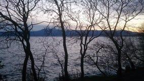 日落在Kostrena,克罗地亚 免版税库存图片