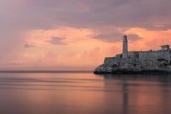 日落在La Habana 免版税图库摄影