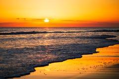 日落在Lantilla 免版税库存照片