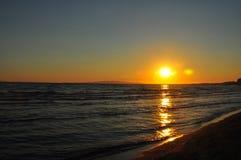 日落在Maremma 库存图片