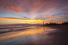 日落在Maspalomas 图库摄影