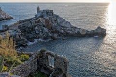 日落在Portovenere 免版税库存图片