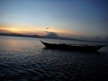 日落在Pradise 库存照片