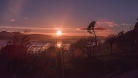 日落在Puerto威廉斯 图库摄影