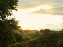 日落在Retamar-Alhaurin de la Torre 库存照片