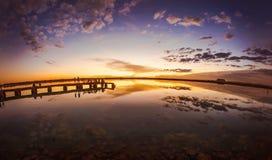 日落在Siwa埃及 库存照片