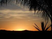日落在Temecula加利福尼亚在12月 免版税库存图片