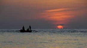 日落在Togean海岛在苏拉威西岛 库存图片