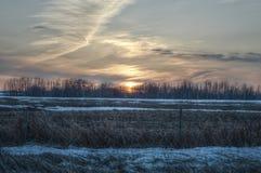 日落在Vegreville 2 免版税库存图片