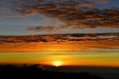 日落在yushan国家公园 免版税库存图片